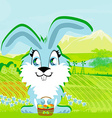 Rabbit and a farm in a beautiful nature vector