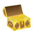 Chest of gold vector