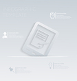Tablet pad with sheet of paper template gr vector