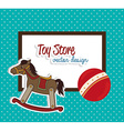 Toys design over blue background vector