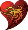 Abstract love heart design vector