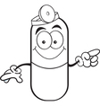 Cartoon pill capsule pointing vector