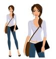 Girl student portrait vector