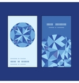 Blue triangle texture vertical round frame pattern vector