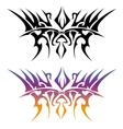 Japan mark colorful tattoo on white background for vector