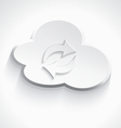 White cloud computing sink icon 3d vector