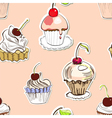 Seamless background with cake vector