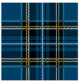 Traditional seamless blue tartan pattern vector