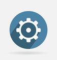 Circle blue icon symbol settings cogwheel vector