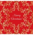 Christmas greeting card with snowflake red vector