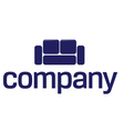 Sofa logo  furniture company vector