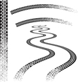 Set of high quality grunged tire tracks vector