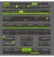 Web site design template navigation elements vector