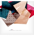 Modern 3d abstract shapes on white layout vector