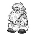 Sketch of santa claus christmas vector