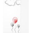 Pencil balloons sketch vector