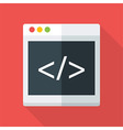 Website coding flat stylized vector