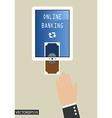 Online banking vector