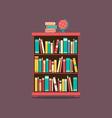 Flat design book cabinet vector