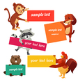 Set of labels with animals vector
