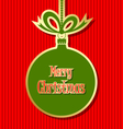 Retro style christmas ball vector
