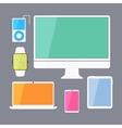 Modern business ui devices set - display digital vector