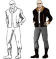 Bad guy comics vector