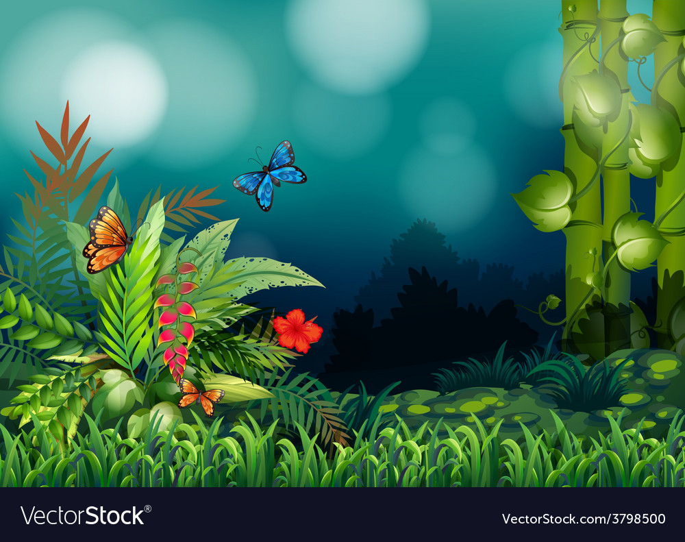 A garden vector | Price: 1 Credit (USD $1)