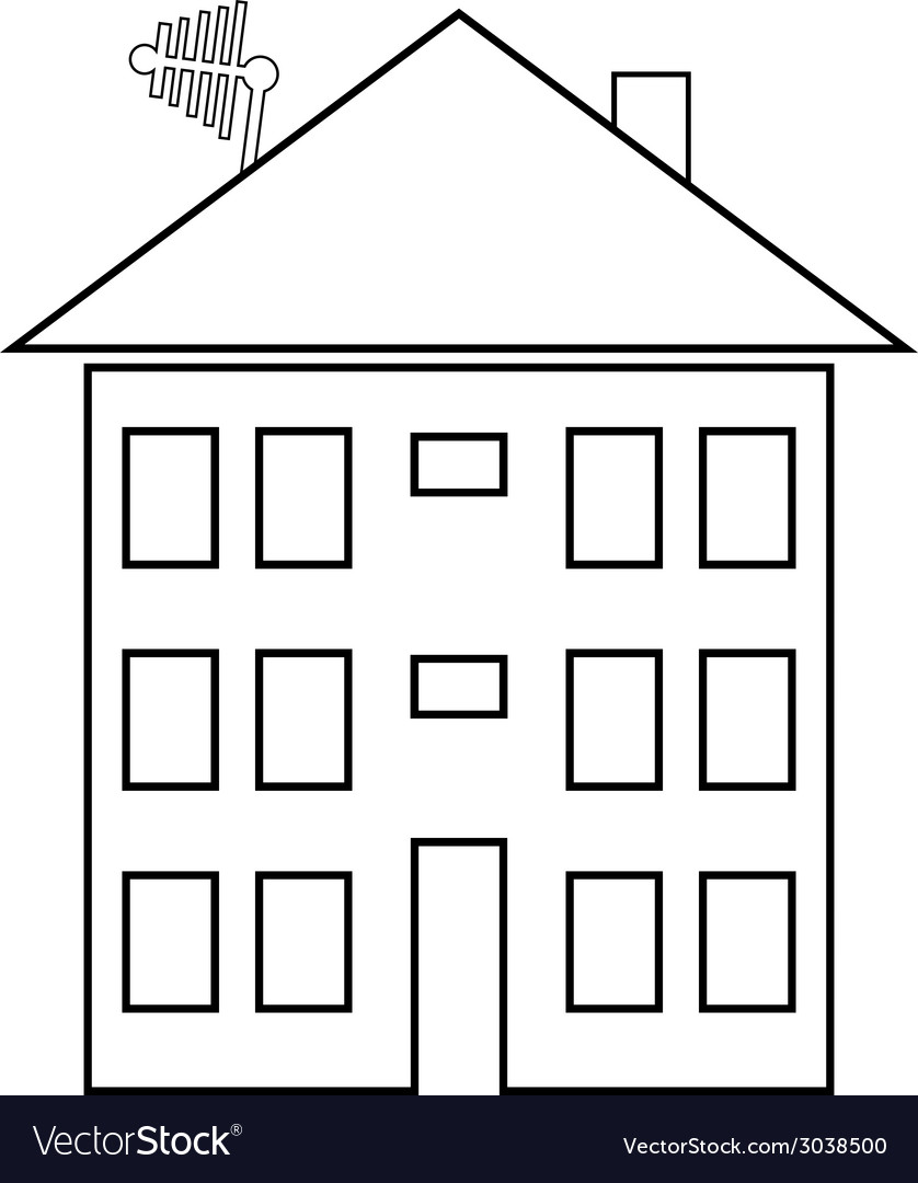 Apartment house button vector | Price: 1 Credit (USD $1)
