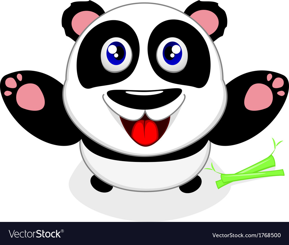 Baby panda laughing vector | Price: 1 Credit (USD $1)