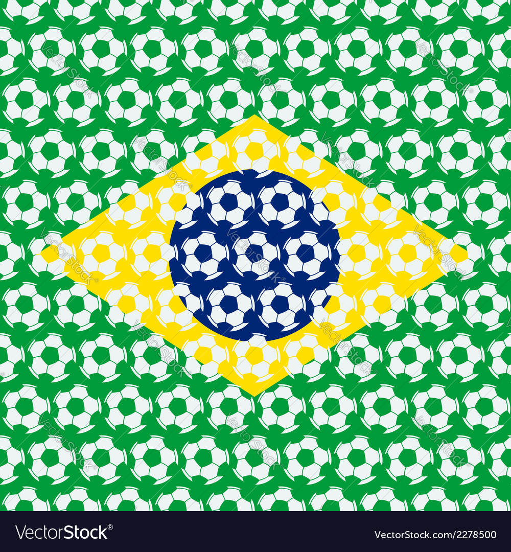 Brazil soccer background vector | Price: 1 Credit (USD $1)