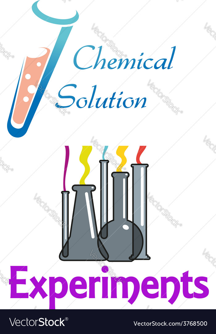 Chemical flasks and test tubes logo vector | Price: 1 Credit (USD $1)