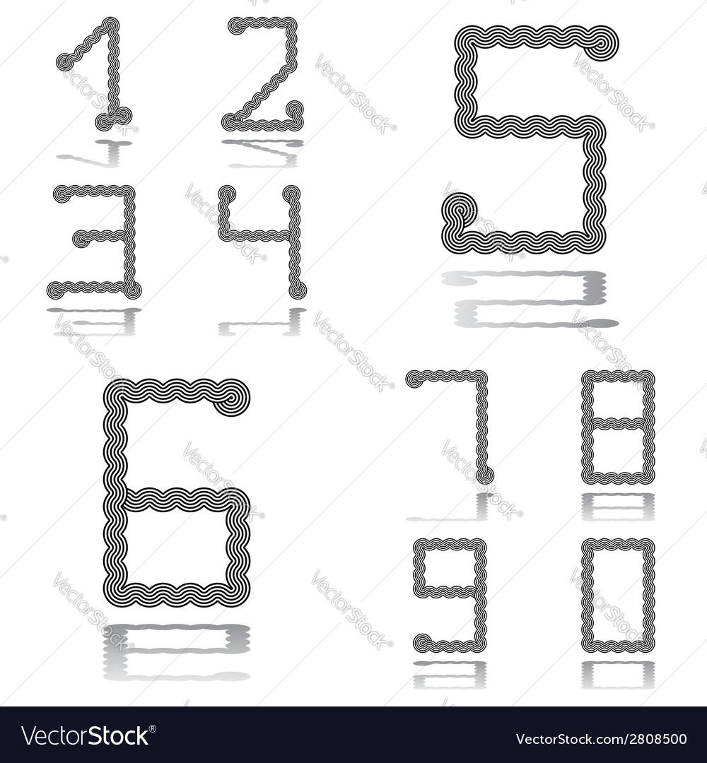 Design numbers set vector | Price: 1 Credit (USD $1)