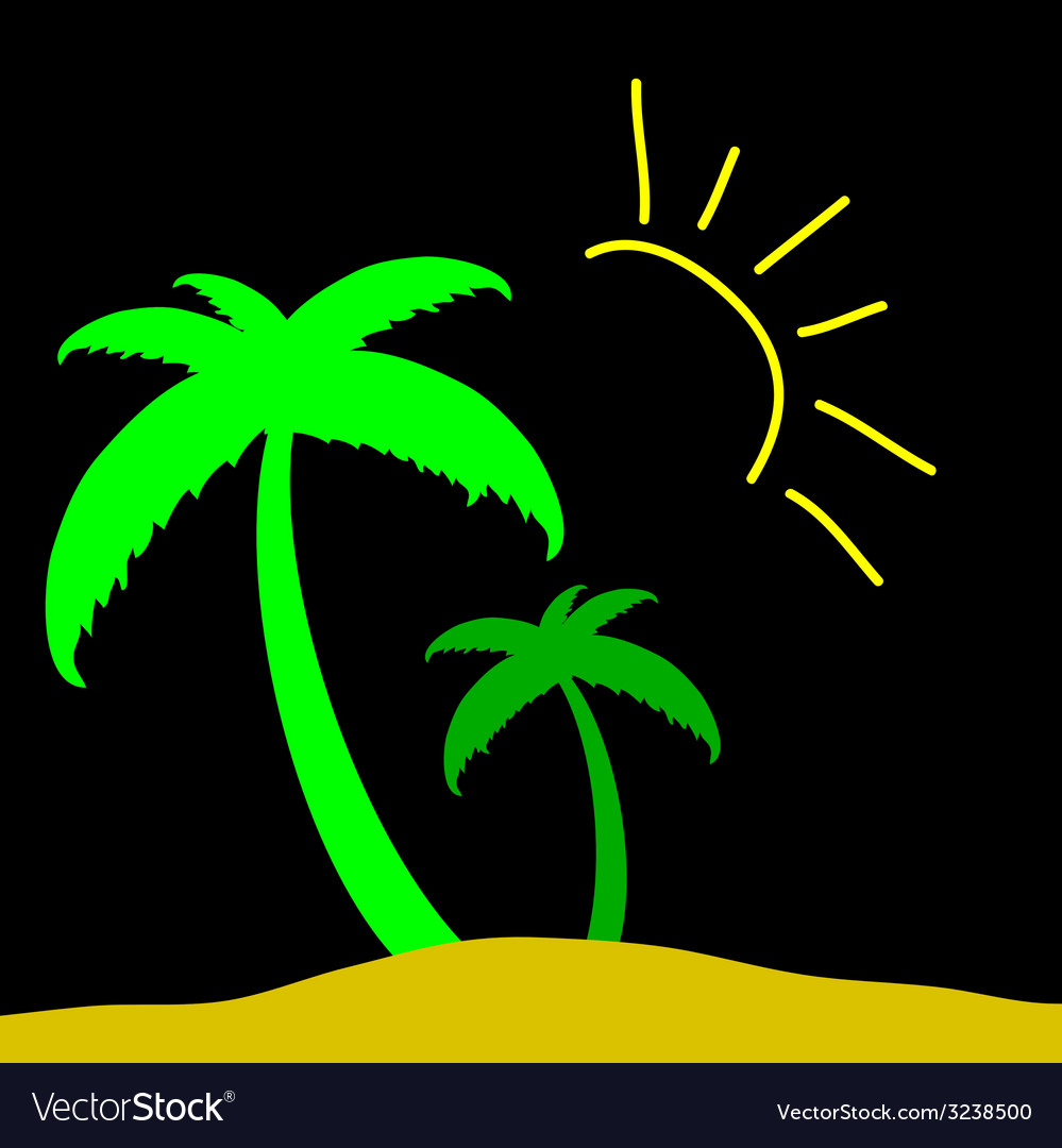Palm color vector | Price: 1 Credit (USD $1)