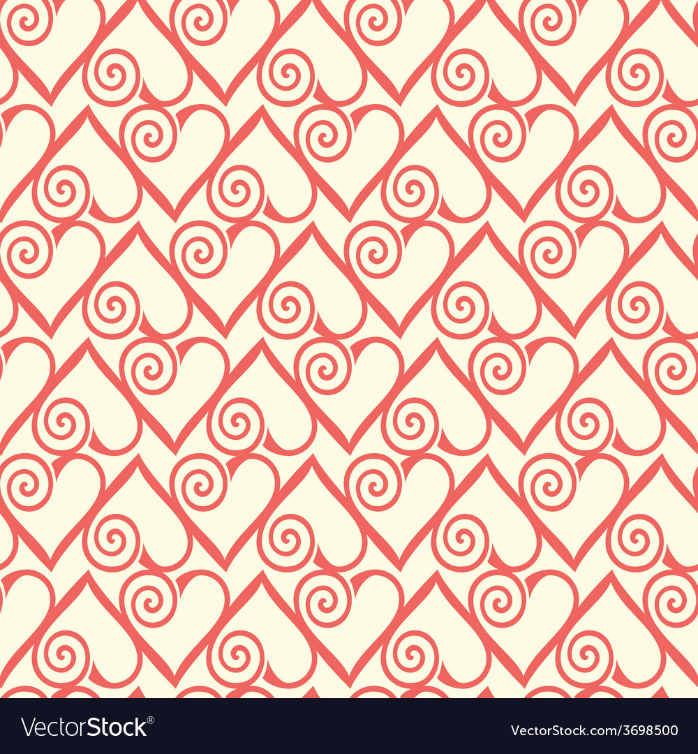 Seamless pattern with stylized hearts romantic vector   Price: 1 Credit (USD $1)