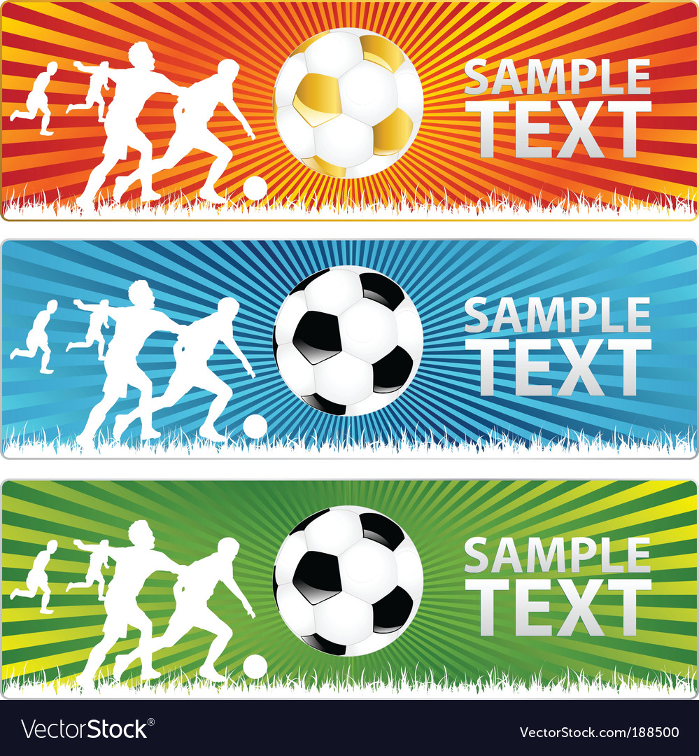 Soccer ball or football banners vector | Price: 1 Credit (USD $1)