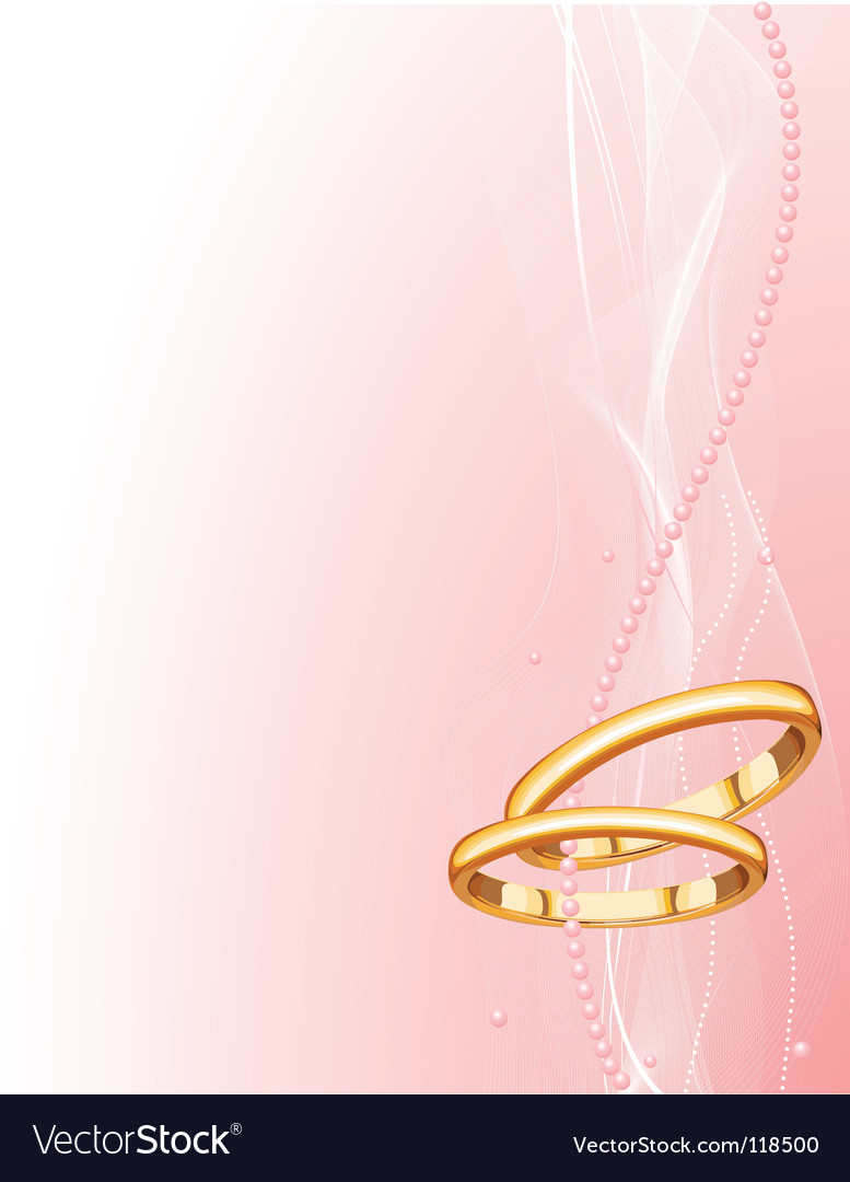 Wedding rings background vector | Price: 1 Credit (USD $1)