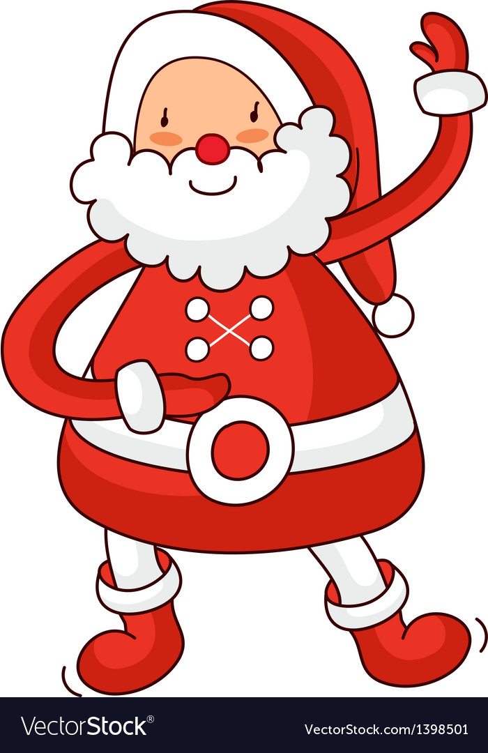 A view of santa claus vector | Price: 1 Credit (USD $1)