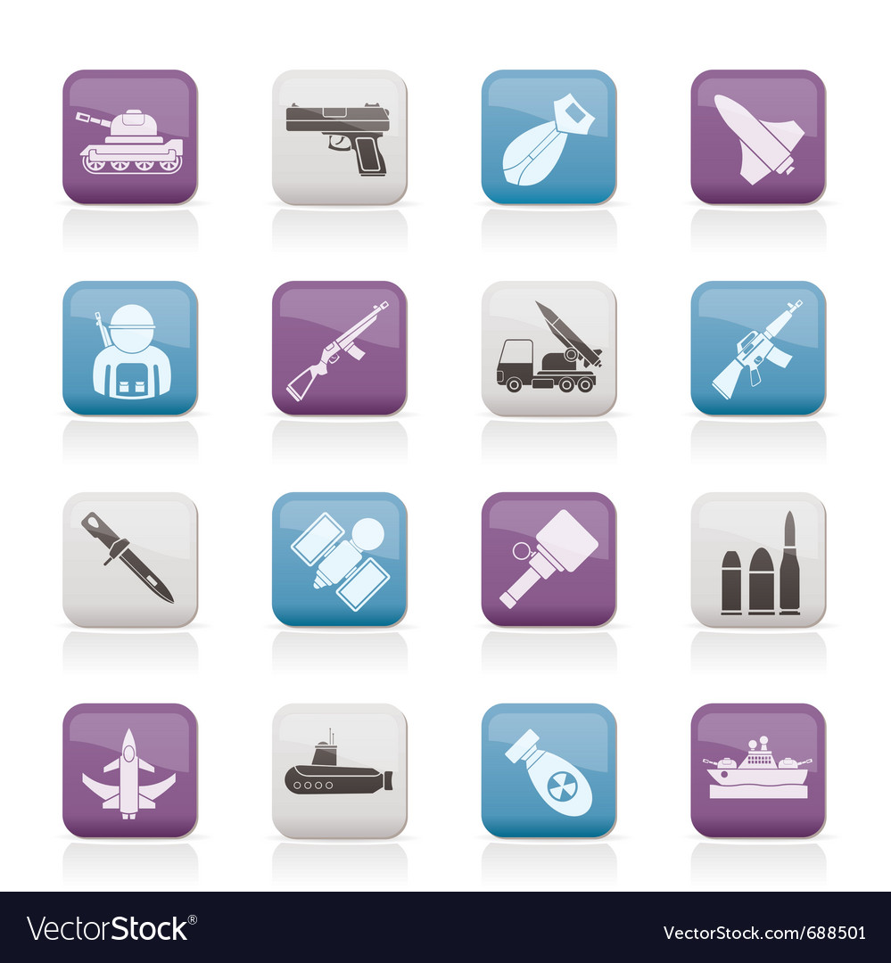 Army and arms icons vector | Price: 1 Credit (USD $1)