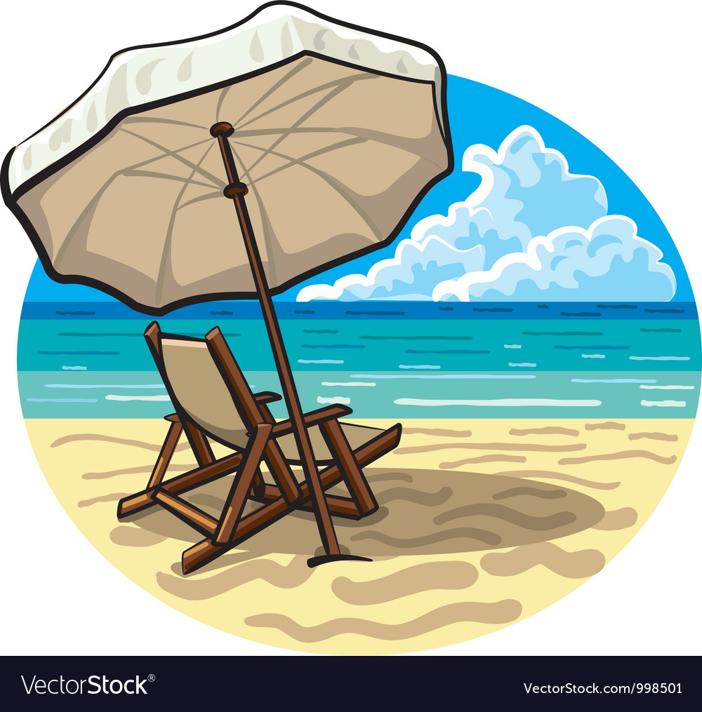 Beach chair vector | Price: 3 Credit (USD $3)