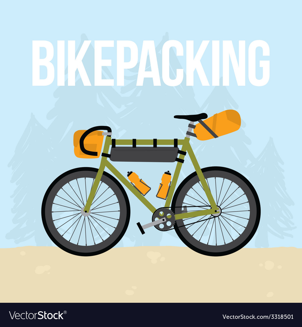 Bikepacking vector   Price: 1 Credit (USD $1)