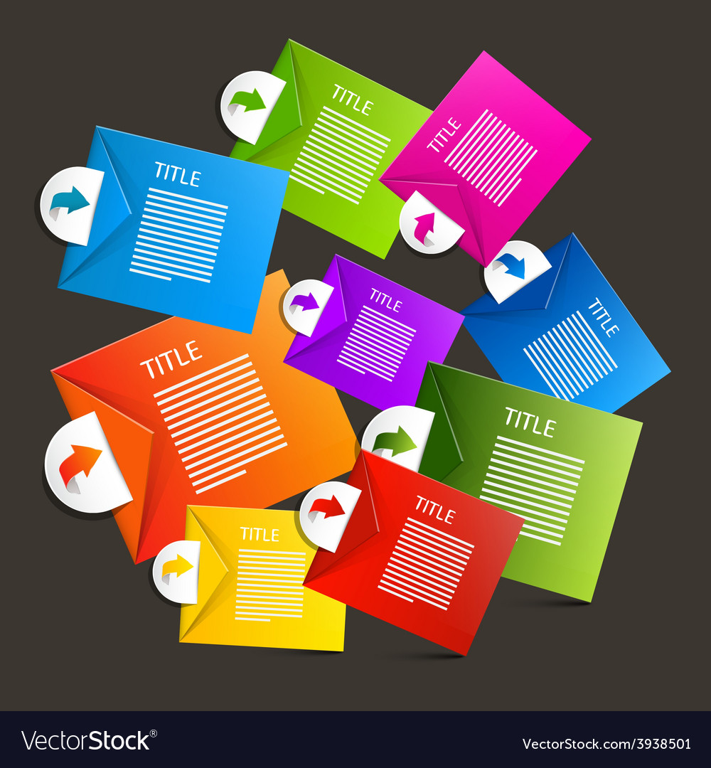 Colorful paper sheets - labels infographics design vector | Price: 1 Credit (USD $1)