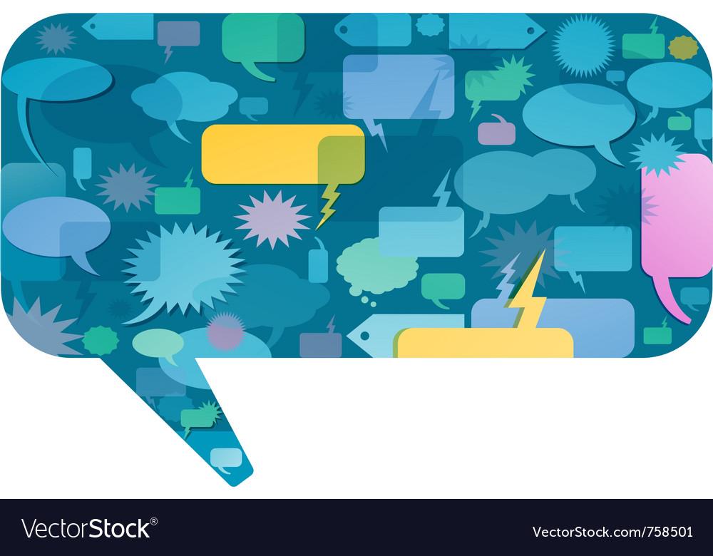 Communication bubbles design vector | Price: 1 Credit (USD $1)