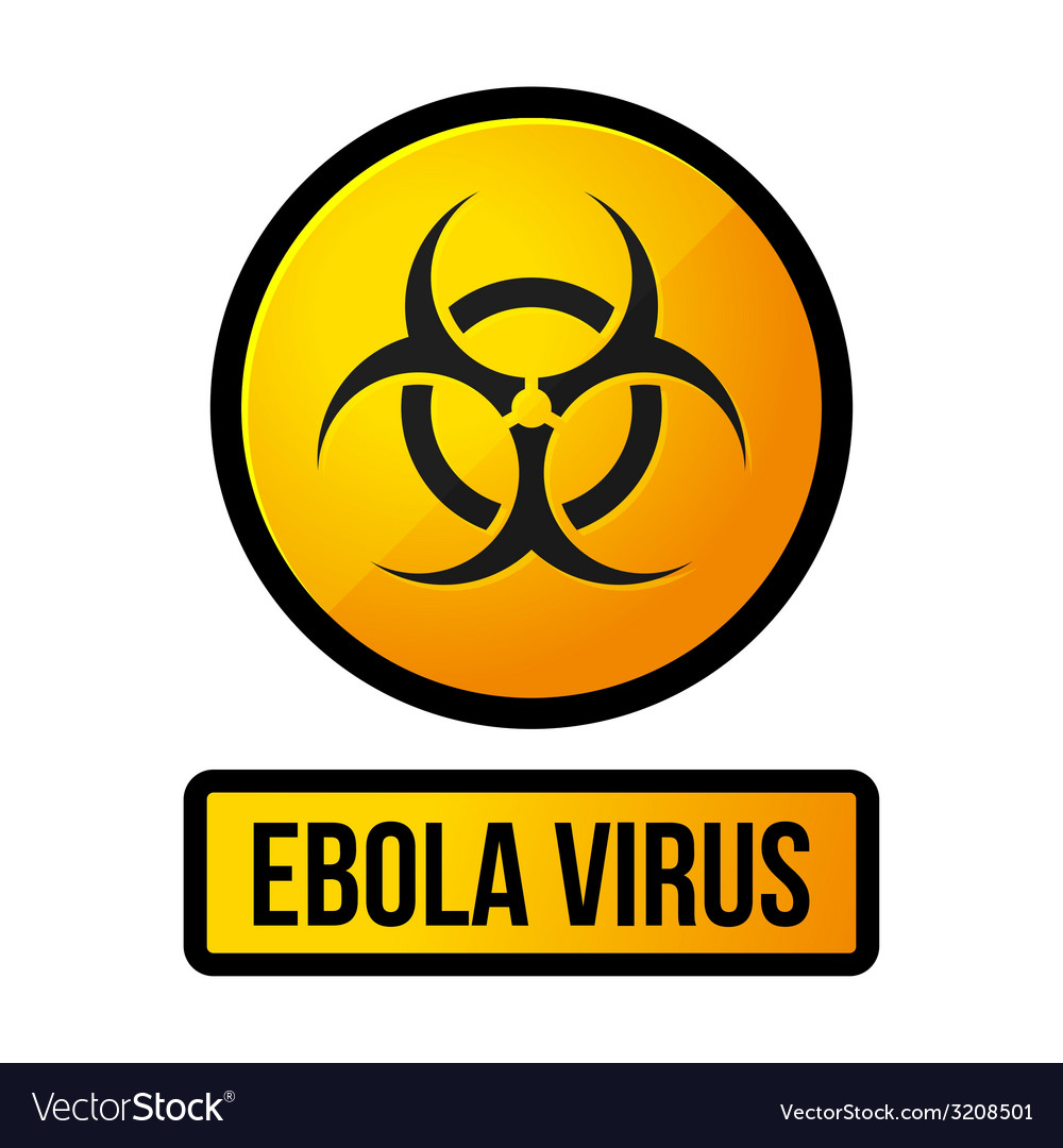 Ebola yellow danger sign vector   Price: 1 Credit (USD $1)