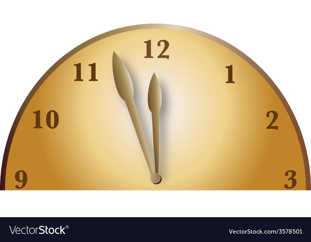 Half bronze clock vector | Price: 1 Credit (USD $1)