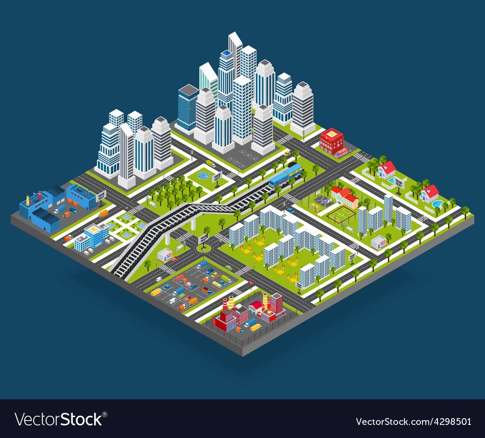 Isometric city vector   Price: 1 Credit (USD $1)