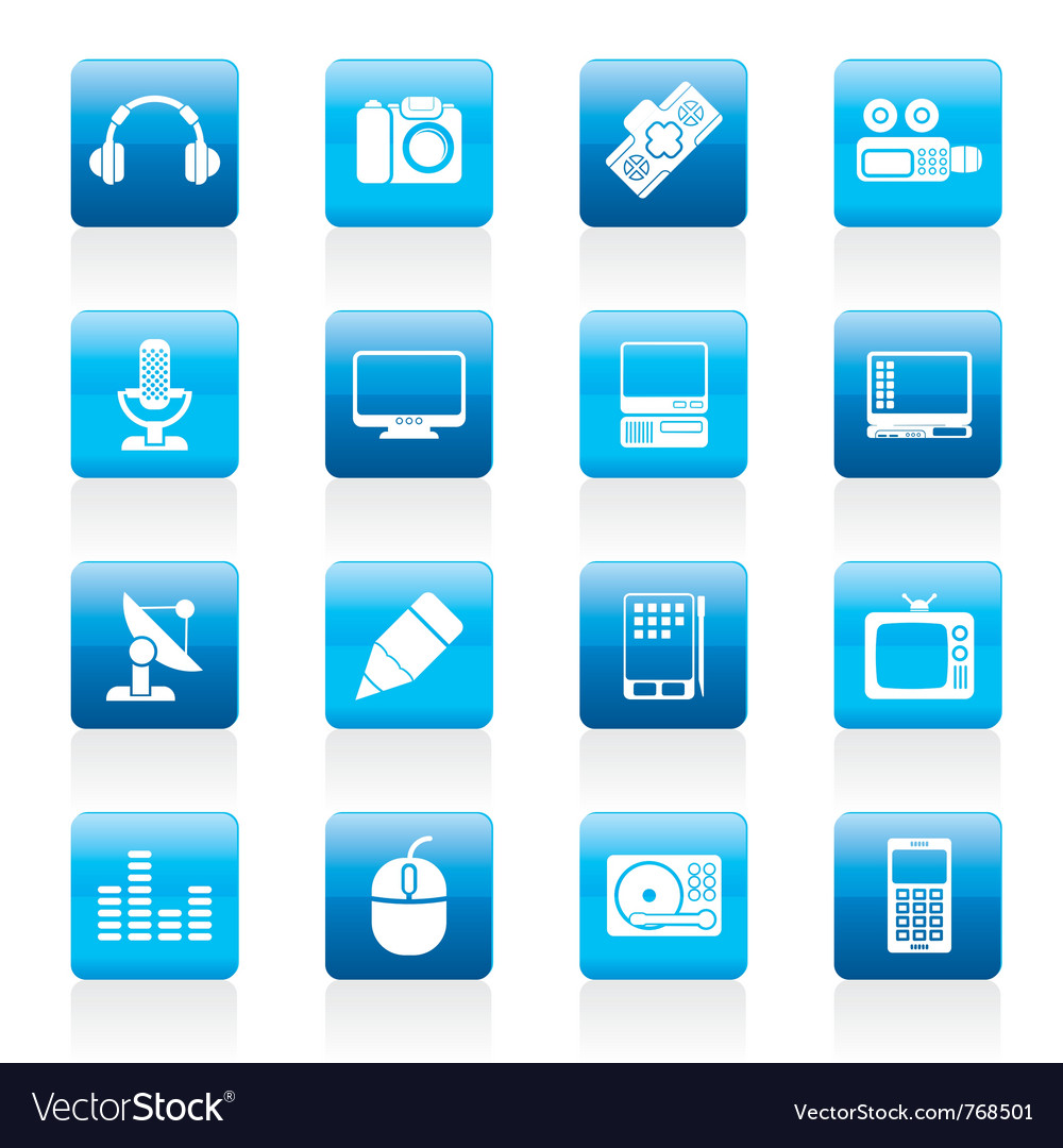 Media equipment icons vector | Price: 1 Credit (USD $1)