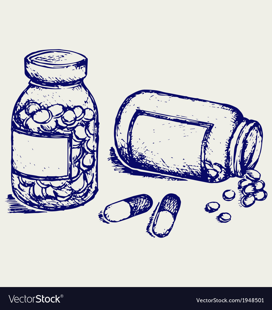 Pill bottle vector | Price: 1 Credit (USD $1)