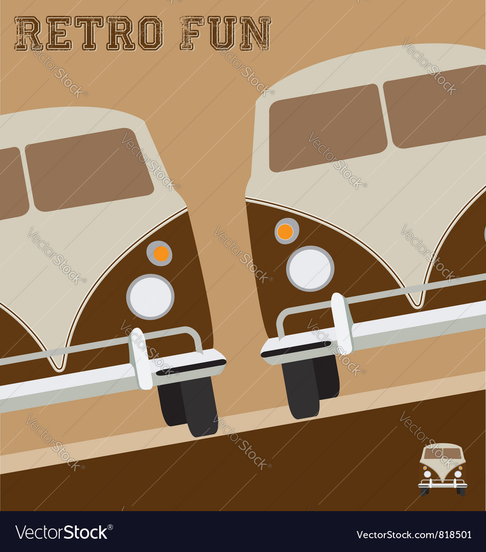 Retro fun design vector | Price: 1 Credit (USD $1)