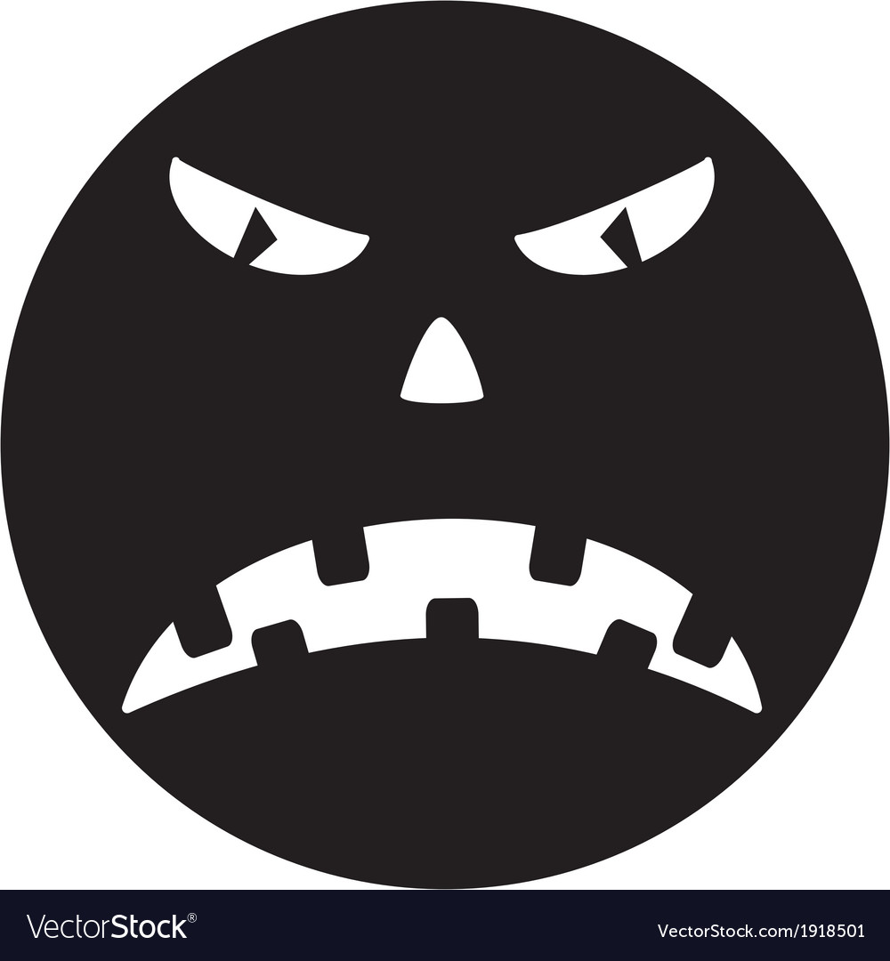 Scary face of halloween vector   Price: 1 Credit (USD $1)